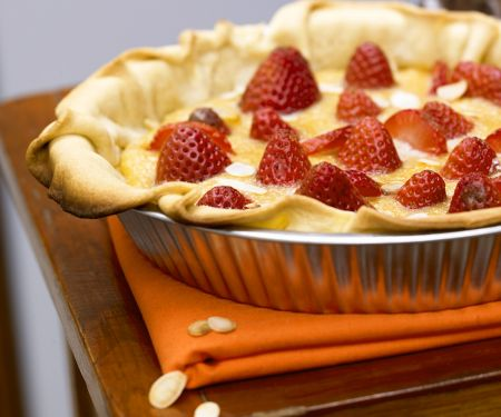 Erdbeer-Käsekuchen mit Quark-Öl-Teig