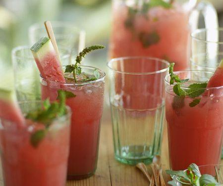 Erfrischender Melonendrink