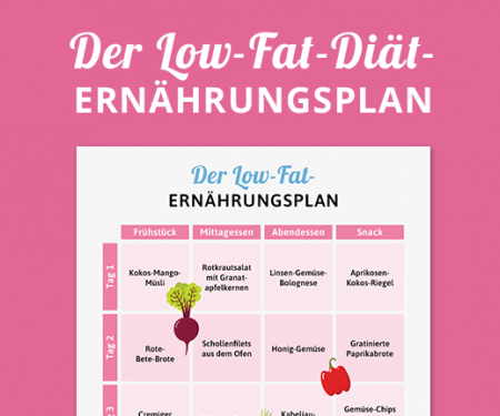 Ernährungsplan Low Fat Diät