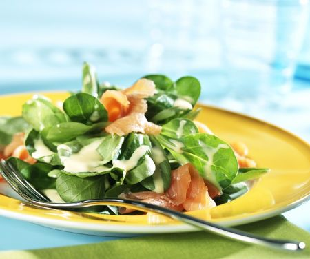 Feldsalat mit Lachs