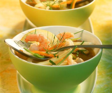 Fenchel-Garnelen-Suppe