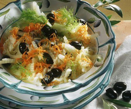 Fenchelsalat mit Möhren