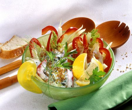 Fenchelsalat mit Paprika