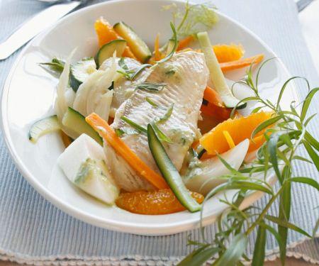 Fisch auf Gemüse mit Estragon