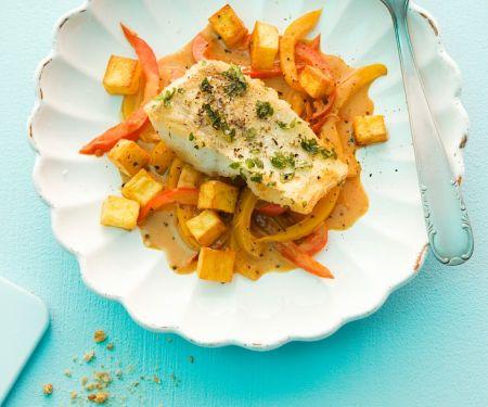 Fisch mit Rahmgemüse
