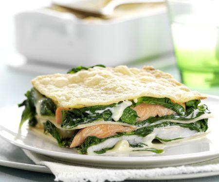 Fisch-Spinat-Lasagne