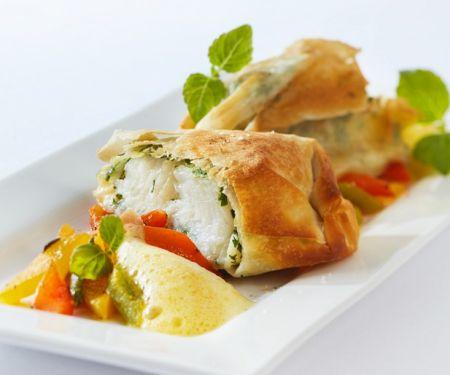 Fischbällchen mit Paprika