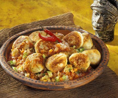 Fischklößchen mit Gemüse