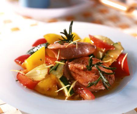 Fleischwurst-Rosmarin-Taler