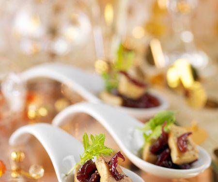 Foie Gras mit Zwiebeln