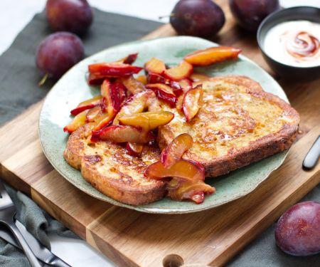 French Toasts mit Hagebutten-Quark-Dip