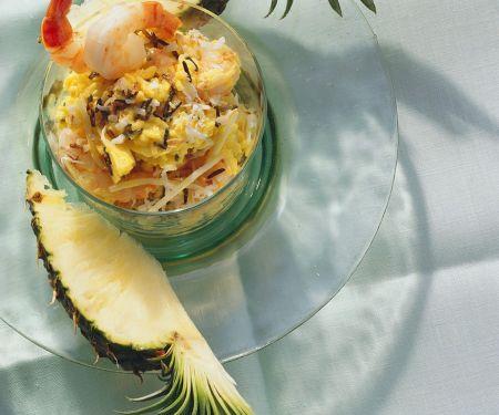 Fruchtiger Reissalat mit Shrimps