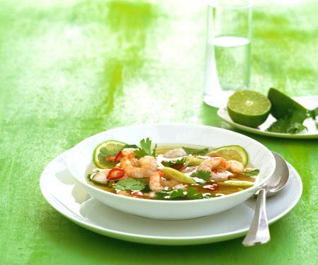 Garnelen-Limetten-Suppe