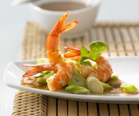 Garnelen mit asiatischer Sauce