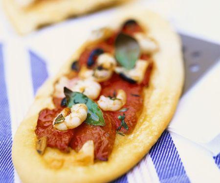 Garnelen-Pizzazungen