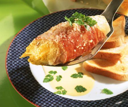Gebackener Chicorre mit Sauce Hollandaise