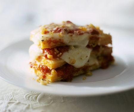 Gebratener Kürbis mit Mozzarella