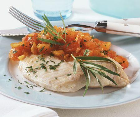 Gedämpfter Viktoriabarsch mit Tomaten-Kräuter-Sauce