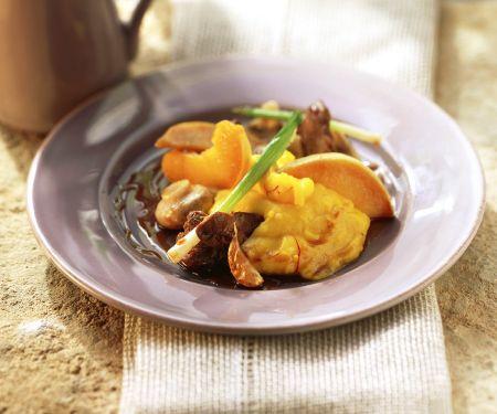 Geflügelleber mit Kartoffelpüree