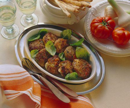 Gefüllte Buletten mit Tomate-Mozzarella