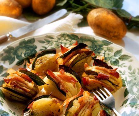 Gefüllte Kartoffeln mit Speck