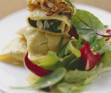 Gefüllte Nudeln mit Spinat-Steinpilz-Füllung