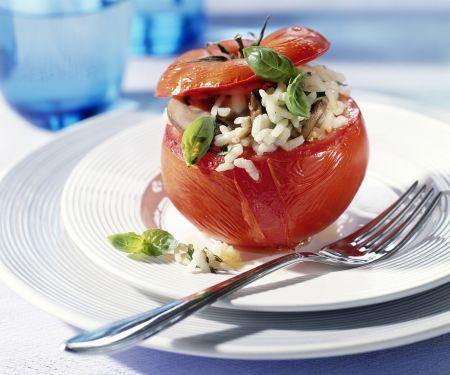 Gefüllte Tomaten mit Pilz-Risotto
