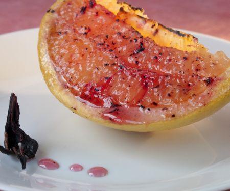 Gegrillte Grapefruit mit Hibiskus-Zucker