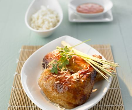 Gegrilltes Hähnchen auf thailändische Art mit Zitronengras