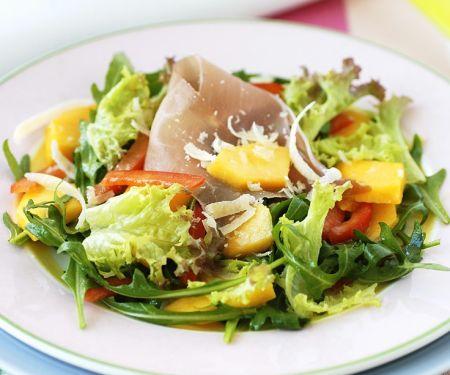 Gemischter Salat mit Schinken
