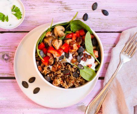 Gemüse-Bowl mit reis-fit Feelgood Linsen mit Reis & Gemüse