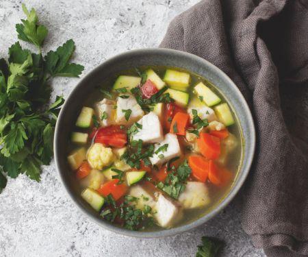 Gemüse-Fisch-Suppe