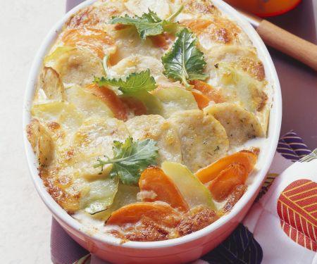 Rezept: Gemüse-Knödel-Gratin