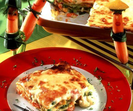 Gemüse-Lasagne mit Gouda
