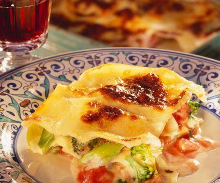 Brokkoli-Tomaten-Lasagne