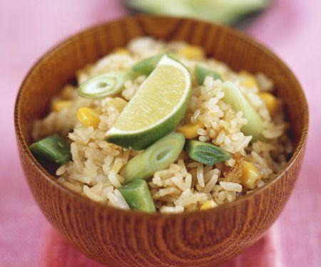 Gemüse-Reis-Pfanne auf Thai-Art