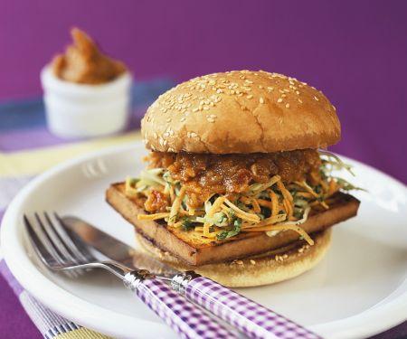 Gemüse-Tofu-Burger