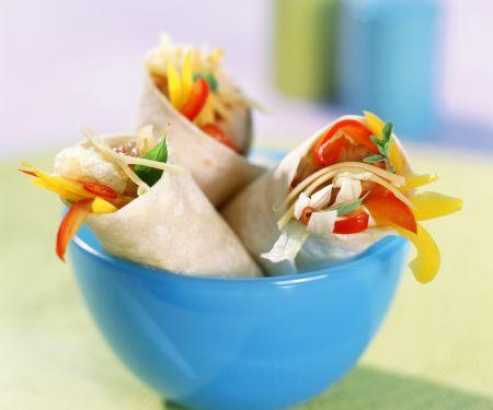 Gemüse-Wraps mit Putenbrust