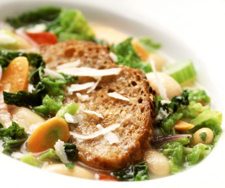 Gemüseeintopf mit Parmesan