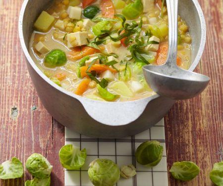 Gemüseeintopf mit Tofu