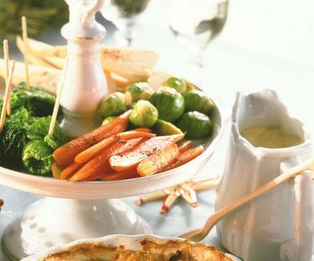 Gemüsemischung mit Holländischer Soße
