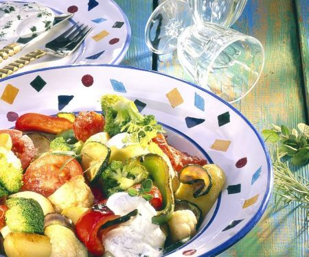 Gemüsepfanne mit Quark