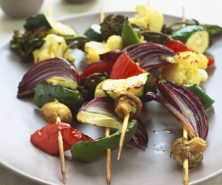 Gemüsespieße mit Kokossauce