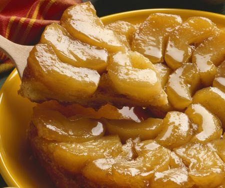 Gestützter Apfelkuchen (Tarte Tatin)