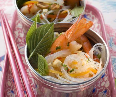 Glasnudel-Shrimps-Salat