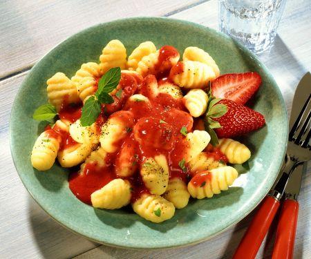Gnocchi mit Erdbeeren