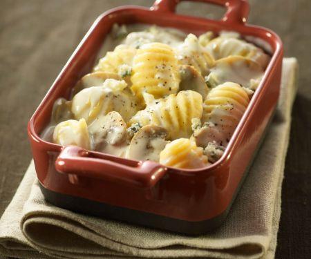 Gnocchi mit Pilz-Käse-Soße