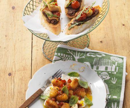 Gnocchi-Mozzarella-Salat