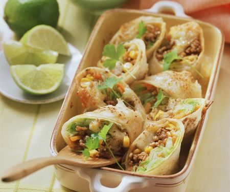 Gratinierte Tortilla-Wraps