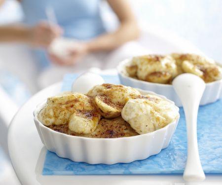 Gratinierter Porridge mit Bananen und Joghurt